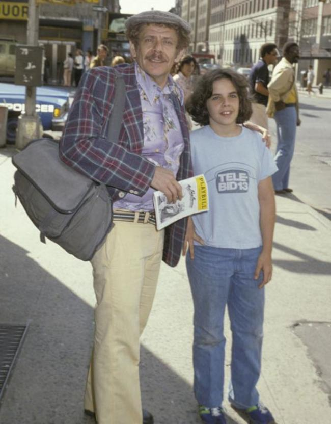 Jerry Stiller and his son, Ben Stiller, on a trip to New York. [c. 1978] Young Celebrity