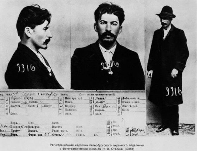 Joseph Stalin's mugshots. [1911] Young Celebrity