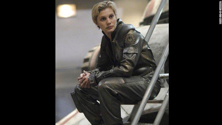 KateeSackhoff as Starbuck, BattlestarGalactica Supergirls