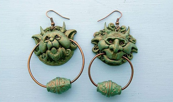 Labyrinth Movie And Book Door Knocker Earings Incredible Jewelries