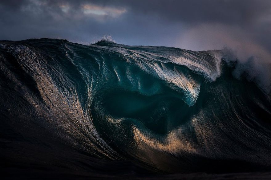 Light Refracts Through The Curves Of A Breaking Wave, New South Wales, Sydney, Australia Photo Contest