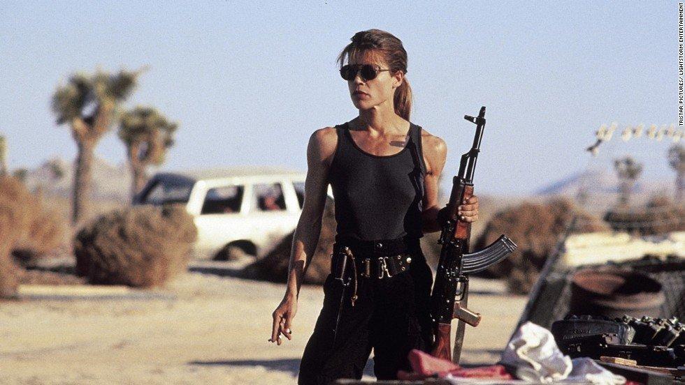 Linda Hamilton or Sarah, The Terminator Supergirls