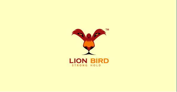Lion Bird Clever Logos