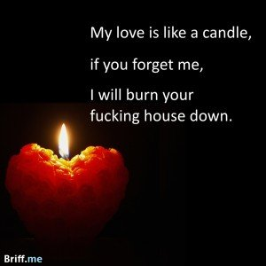 Best Ever Love Quote about a Candle