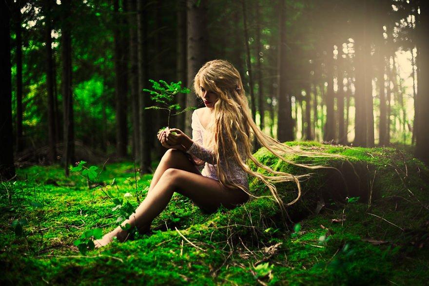 Markéta as a forest spirit Surreal Portraits