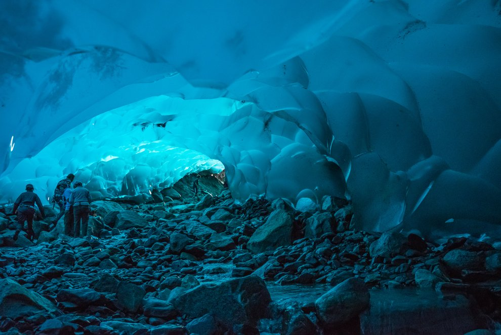 Mendenhall Ice Caves of Juneau in Alaska, United States Unusual Places
