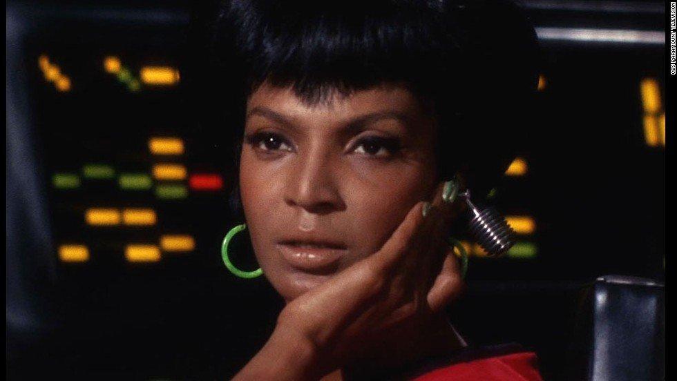 """Nichelle Nichols in the original """"Star Trek"""" TV series Supergirls"""