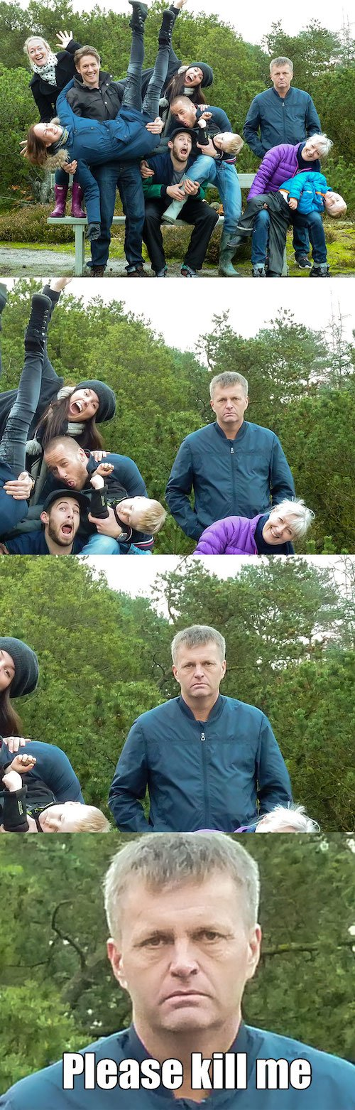 Only Sane Person Family Photo Fails
