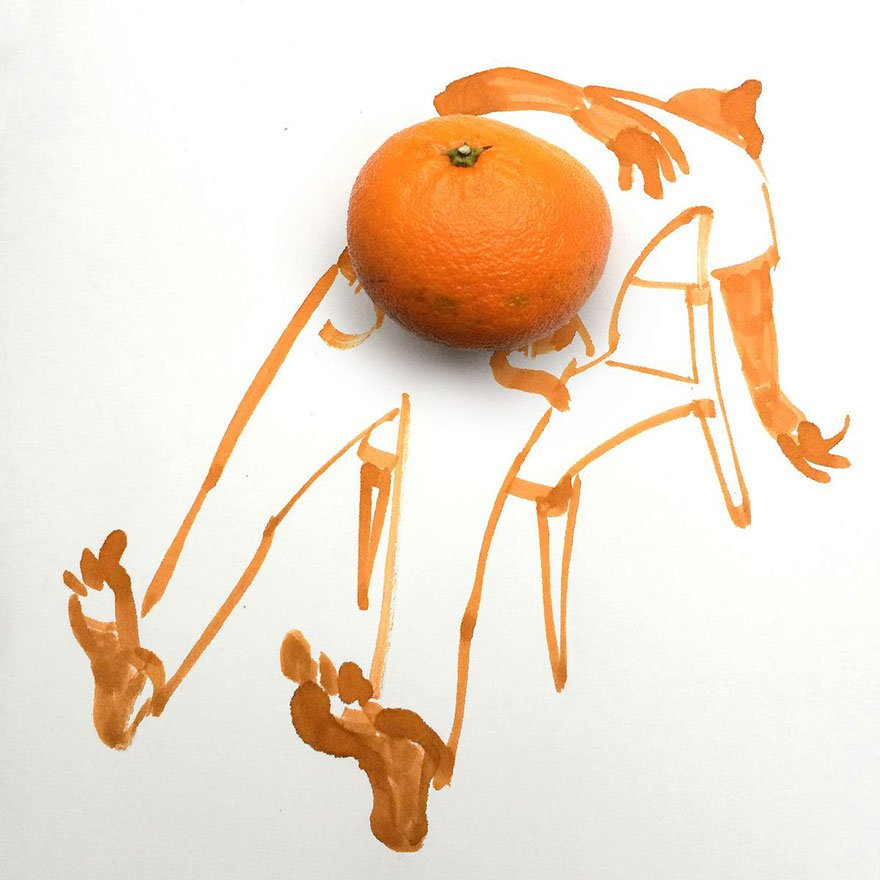Orange Creative Drawings