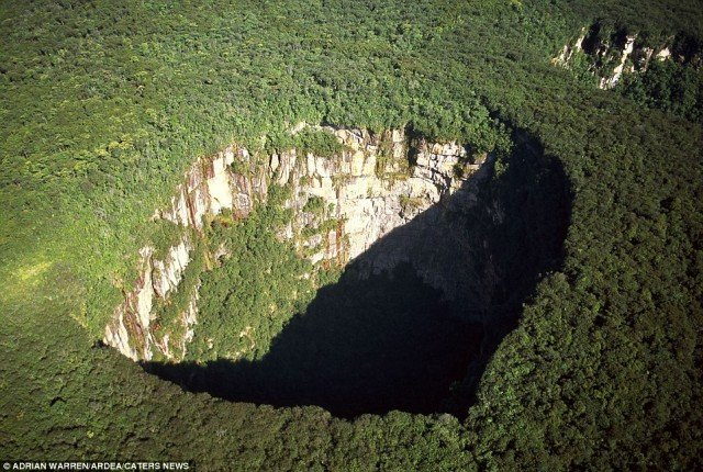 Rainforest sinkhole Travel Idea