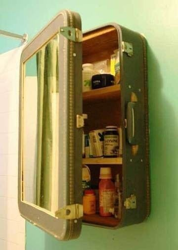 Repurpose an Old Suitcase Into a Medicine Cabinet Upcycling