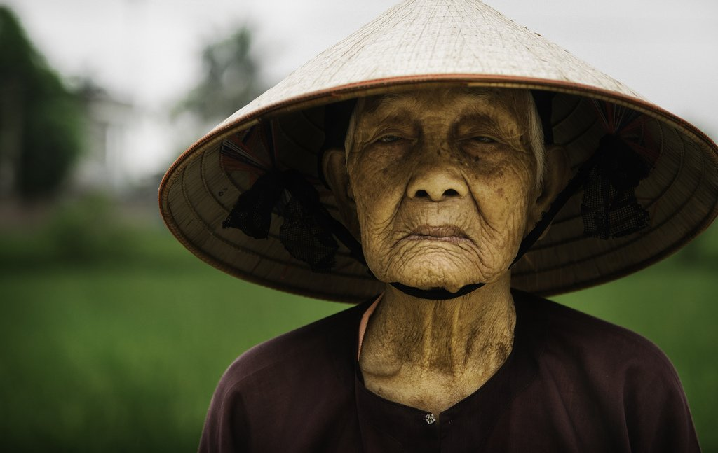 Rice Farmer from a small village in Vietnam Human Diversity