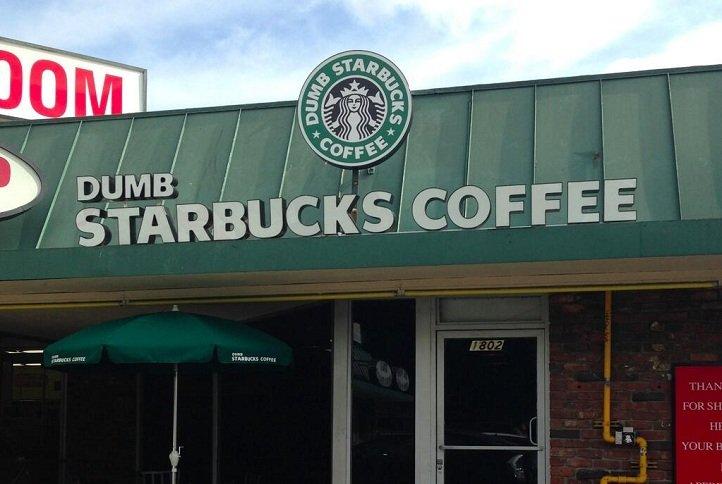 Fake Starbucks 5 Dumb Starbucks