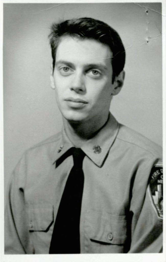 Steve Buscemi during his days as a New York firefighter. [1976] Young Celebrity