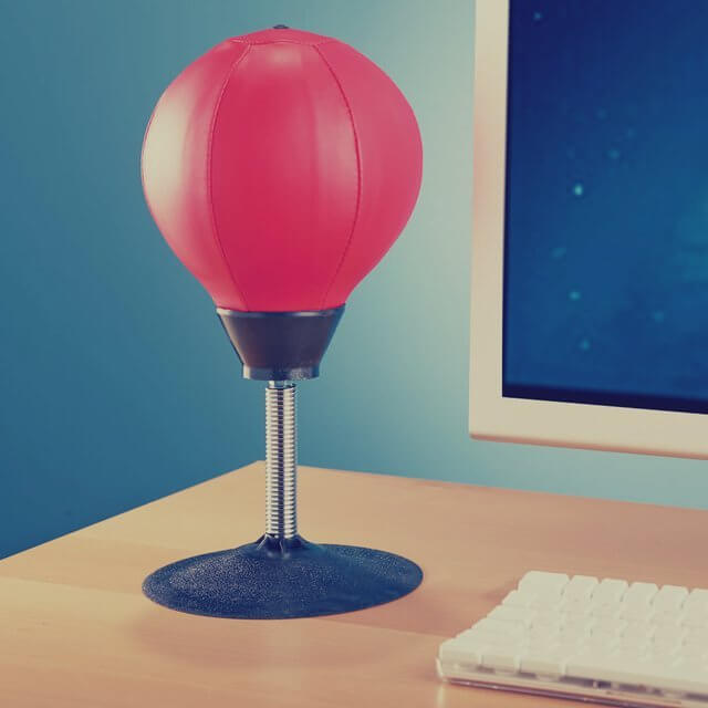 Stress-Busting Desktop Punching Ball Great Packages