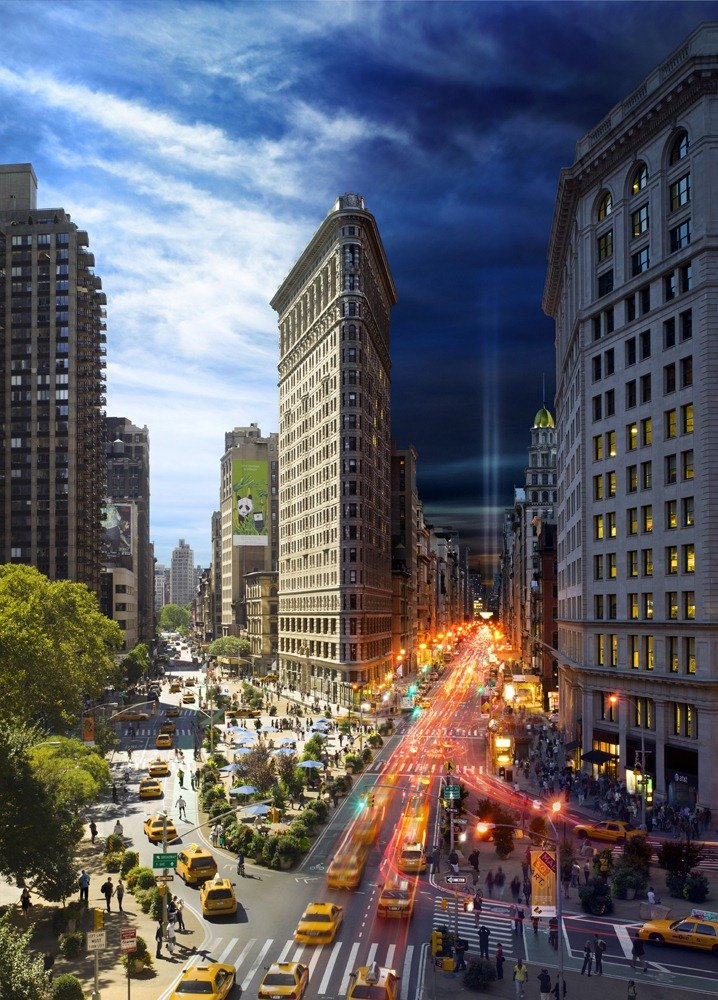 The Flatiron, NYC Day and Night