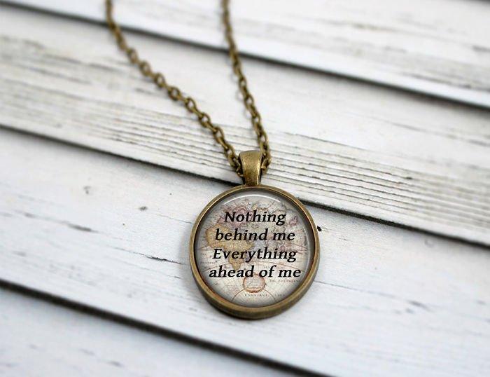 The Road Quote Necklace Incredible Jewelries