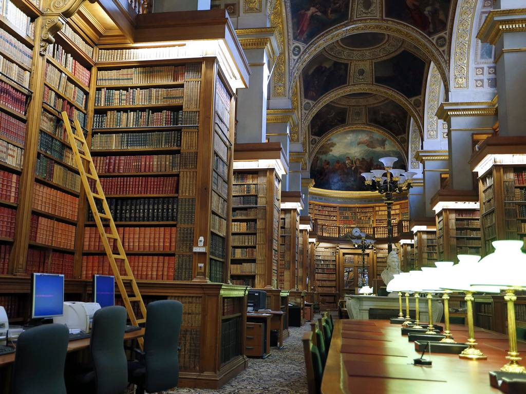 The library of the French National Assembly in Paris House of Books