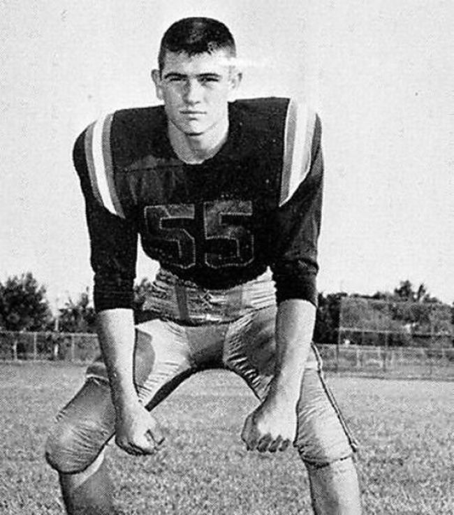 Tommy Lee Jones in his senior year at St. Mark's School of Texas. [1965] Young Celebrity