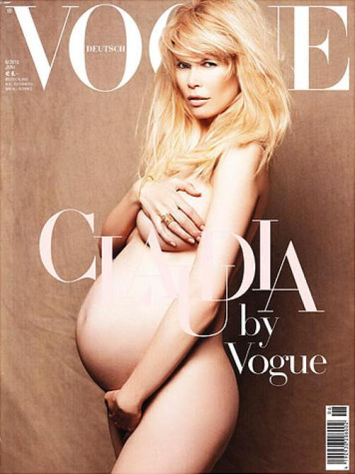 Topless Pregnant Celebrities 10 - Claudia Schiffer Naked
