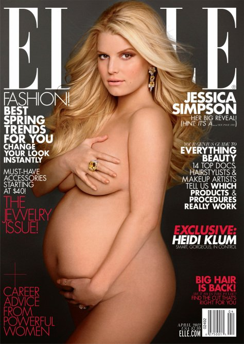 Topless Pregnant Celebrities 11 - Jessica Simpson