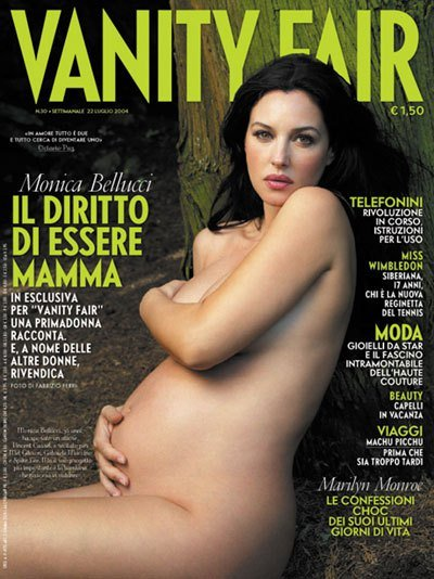 Topless Pregnant Celebrities 12 - Monica Bellucci Nude