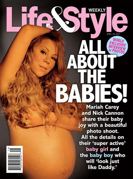 Topless Pregnant Celebrities 13 - Mariah Carey Nude