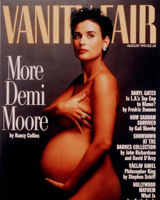 Topless Pregnant Celebrities 5 - Demi Moore