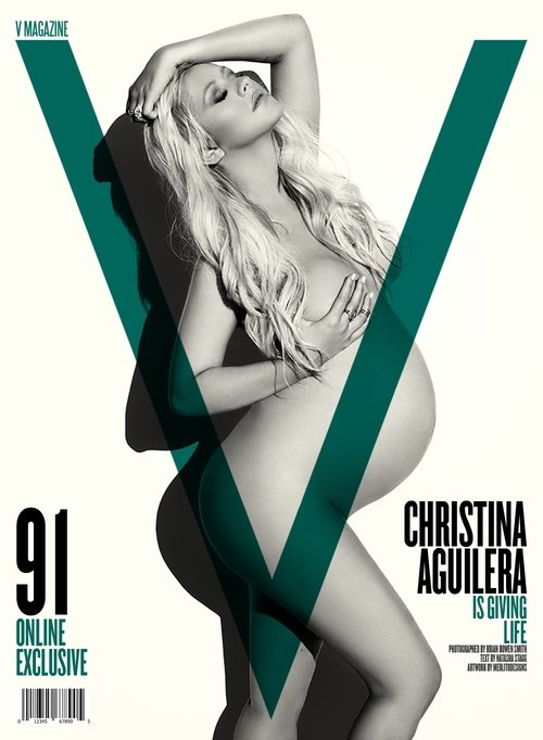 Topless Pregnant Celebrities 6 - Christina Aguilera Nude