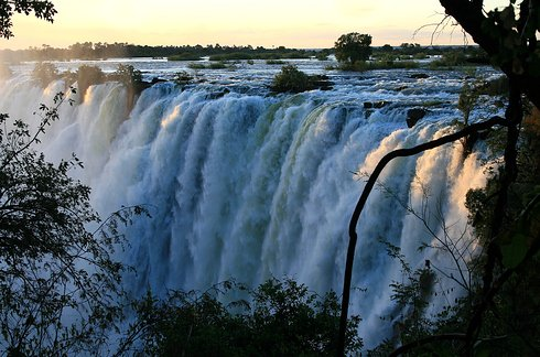 Victoria Falls bordering Zimbabwe and Zambia in Africa 2 Unusual Places