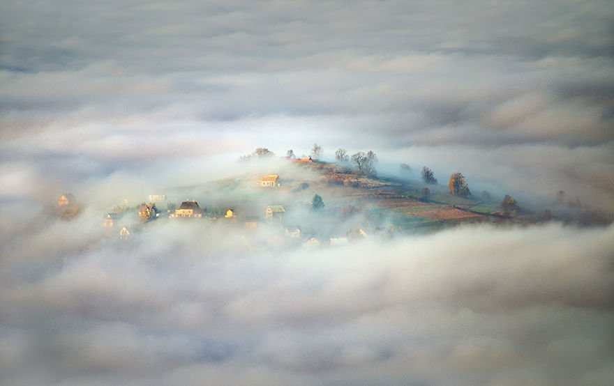 Village in clouds Beskidy – Poland Misty Villages