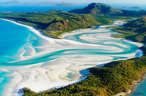 Whitehaven Beach at Whitsunday Island in Australia 2 Unusual Places