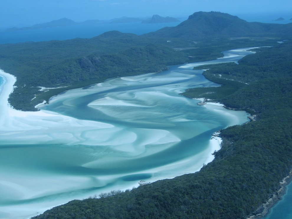 Whitehaven Beach at Whitsunday Island in Australia Unusual Places