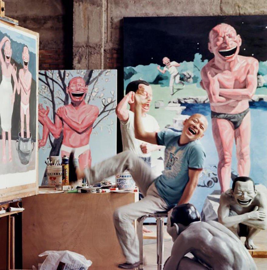 Yue Minjun Famous Artists
