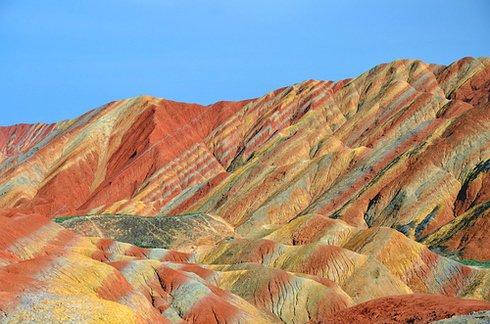 Zhangye Danxia landform in Gansu, China 2 Unusual Places