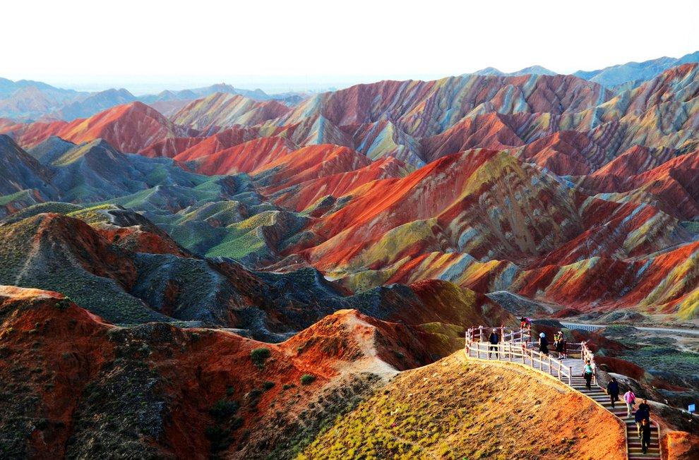 Zhangye Danxia landform in Gansu, China Unusual Places