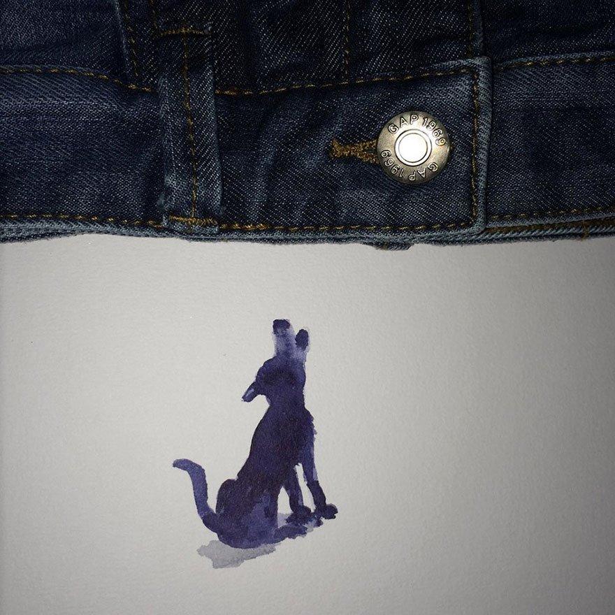 jeans pant Creative Drawings