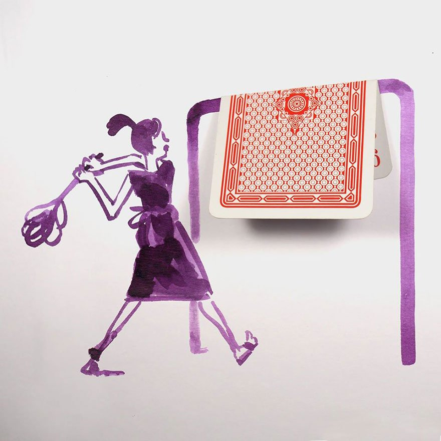 playing card Creative Drawings