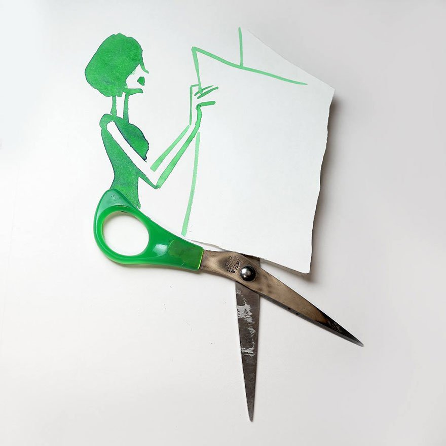 scissor Creative Drawings