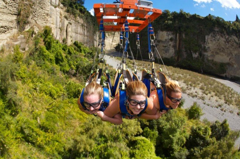 170m above the ground, gravity flying, New Zealand Adventure travel ideas