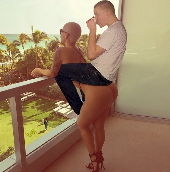 Amber Rose provides the sexiest couch! Funny Photoshop