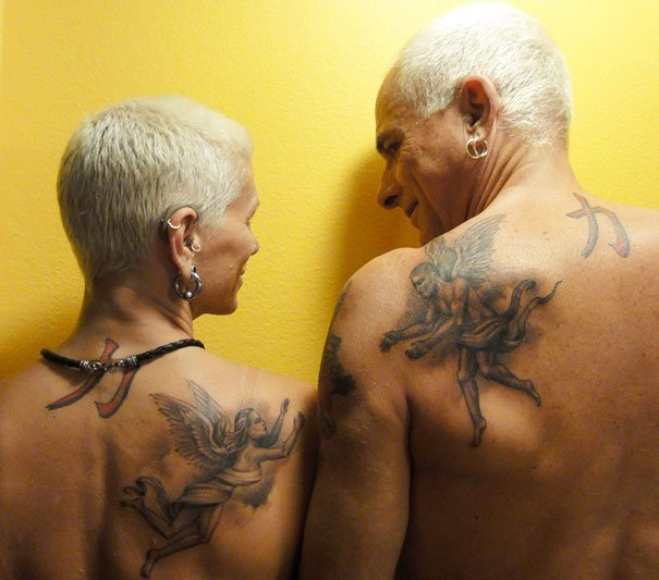 Angels Couple Tattoo