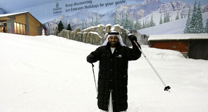 Are you kidding, where does the snow came from 2 Crazy Dubai