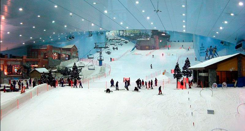 Are you kidding, where does the snow came from Crazy Dubai