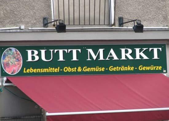 BUTT Market Funny Signs