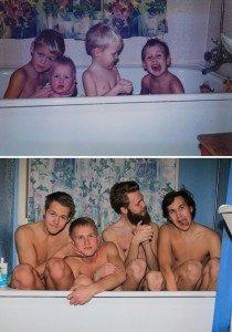 Bathing together Sibblings