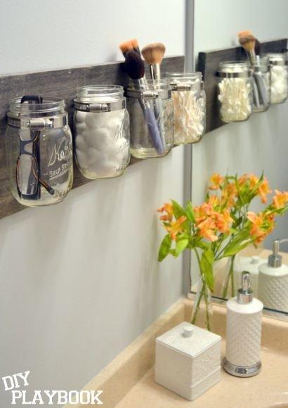 Bathroom storage Mason Jar