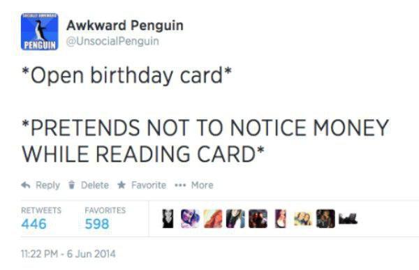 Birthday Card Funny Tweets