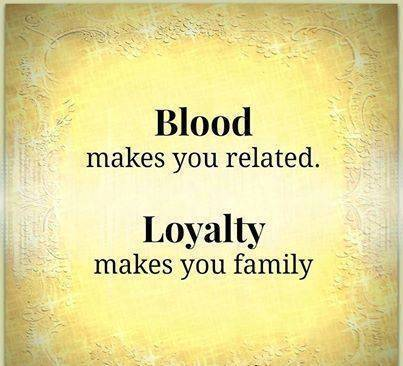 Blood and Loyalty, not the same of course!! Hilarious Facts