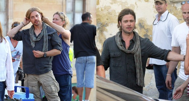 Brad Pitt Celebrities Stunts